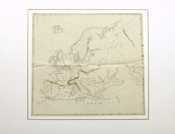 Map of Europe, 1856-matted-10496M
