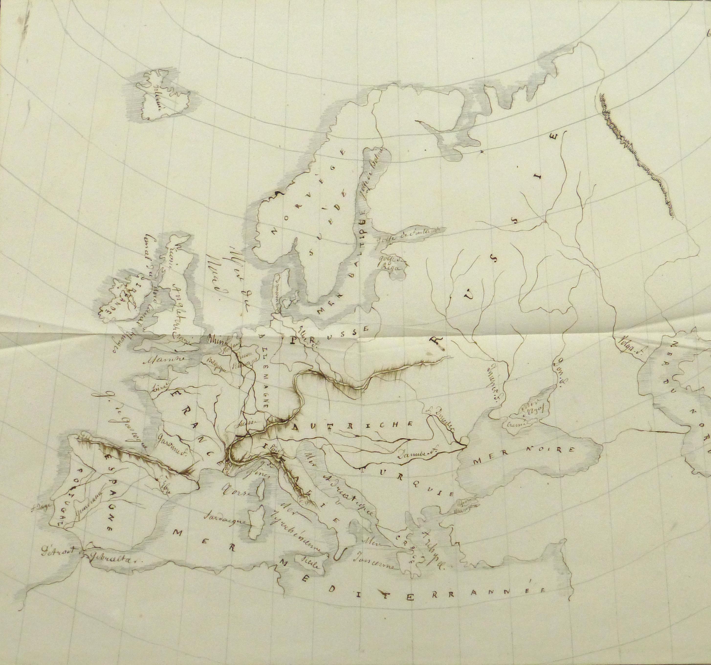 Map of Europe, 1856-main-10496M