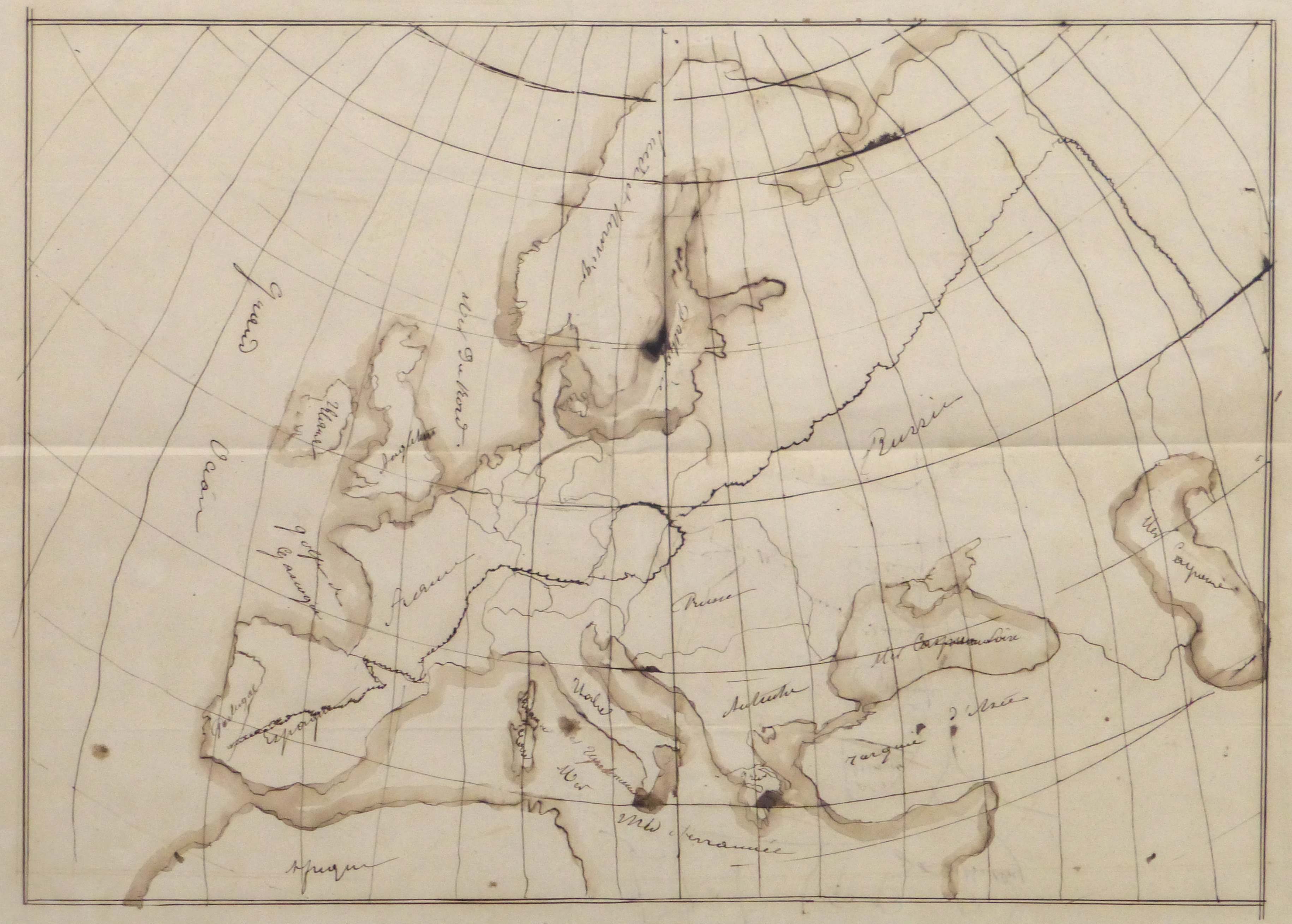 Map of Northern Europe, 1856-main-10497M