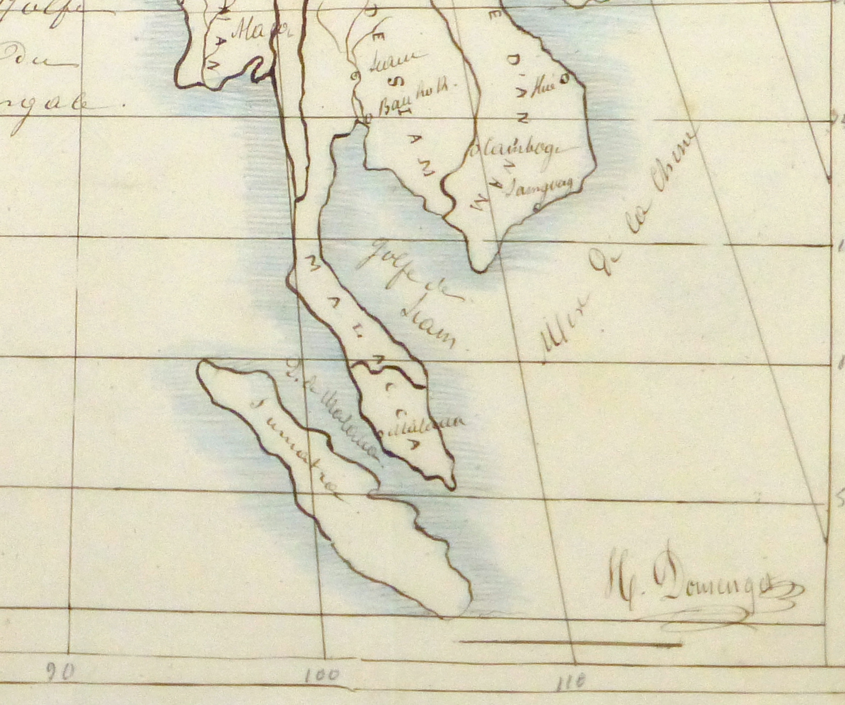 Map of Southern Asia, 1856-detail-10500M