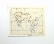 Map of Southern Asia, 1856-matted-10500M