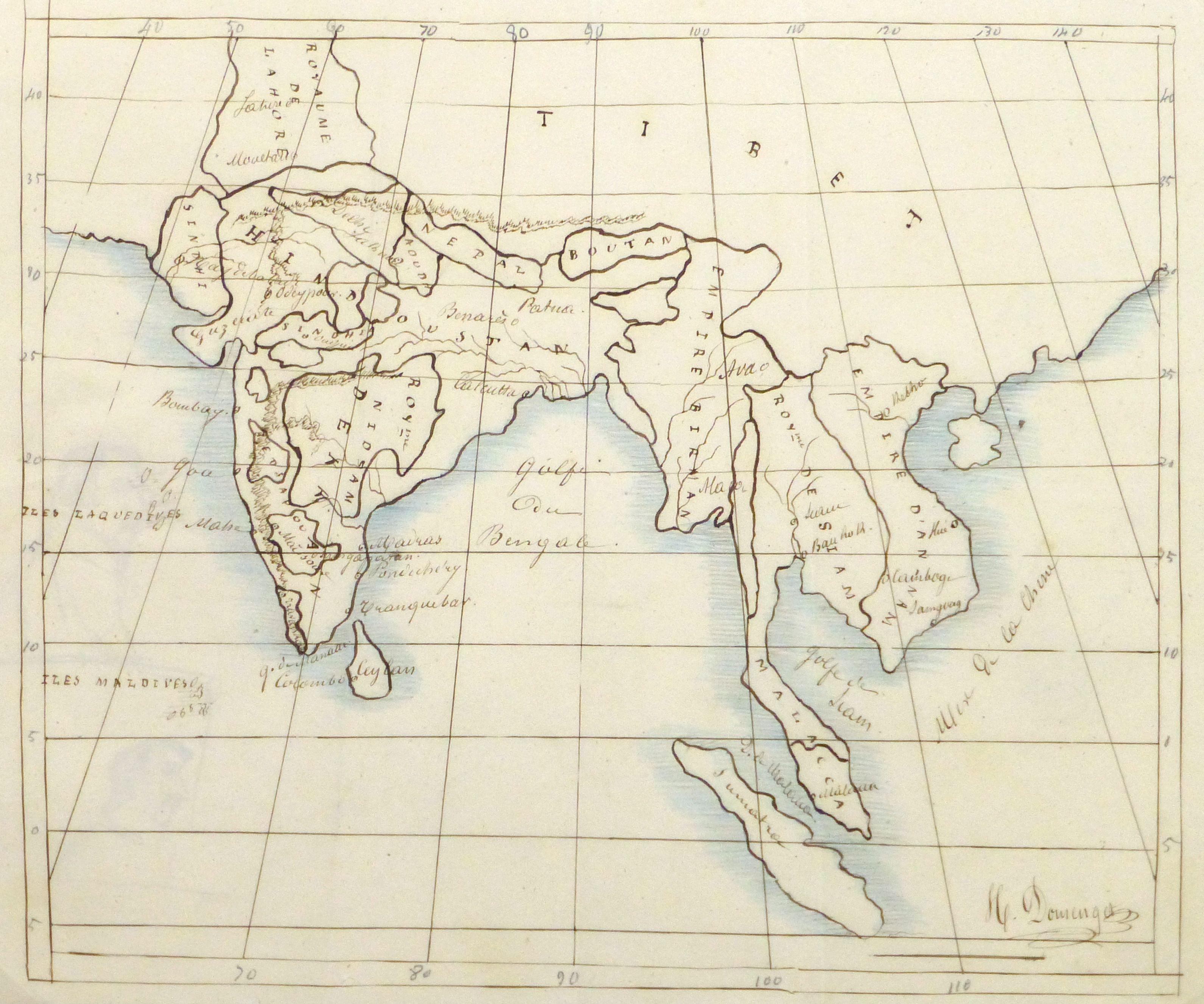 Map of Southern Asia, 1856-main-10500M
