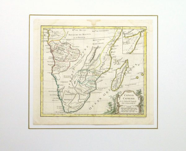 Map of South Africa, 1778-matted-10501M