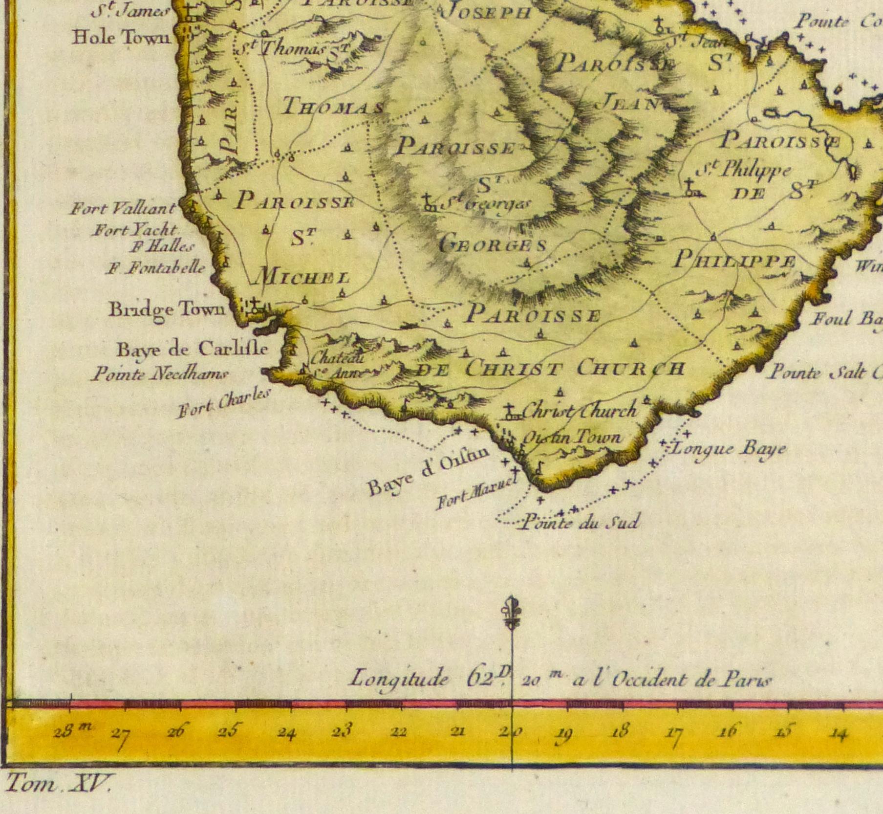 Map of Barbados, -detail-10502M