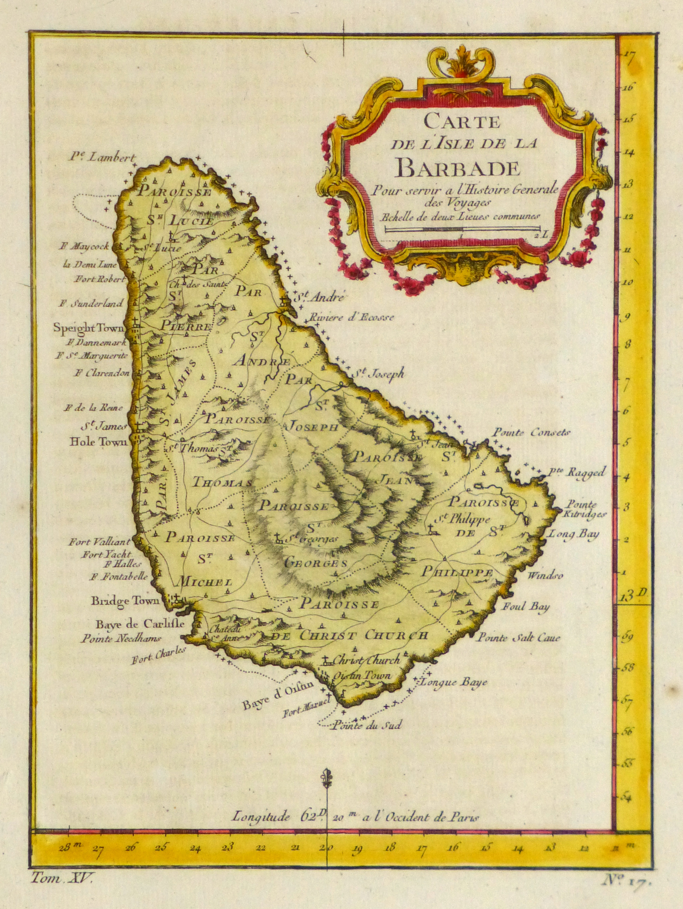 map of barbados  1758
