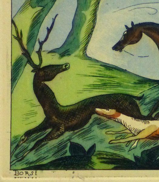 Etching- The Pursuit, Circa 1920-detail-10529M