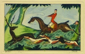 Etching- The Pursuit, Circa 1920-main-10529M