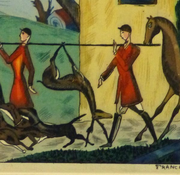 Etching- After the Hunt, Circa 1920-detail-10530M