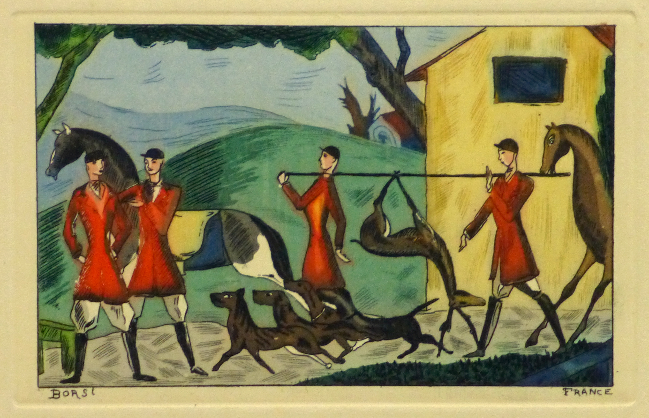 Etching- After the Hunt, Circa 1920-main-10530M
