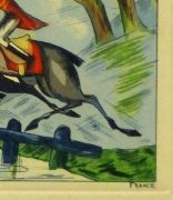 Etching- English Hunters, Circa 1920-detail-10531M