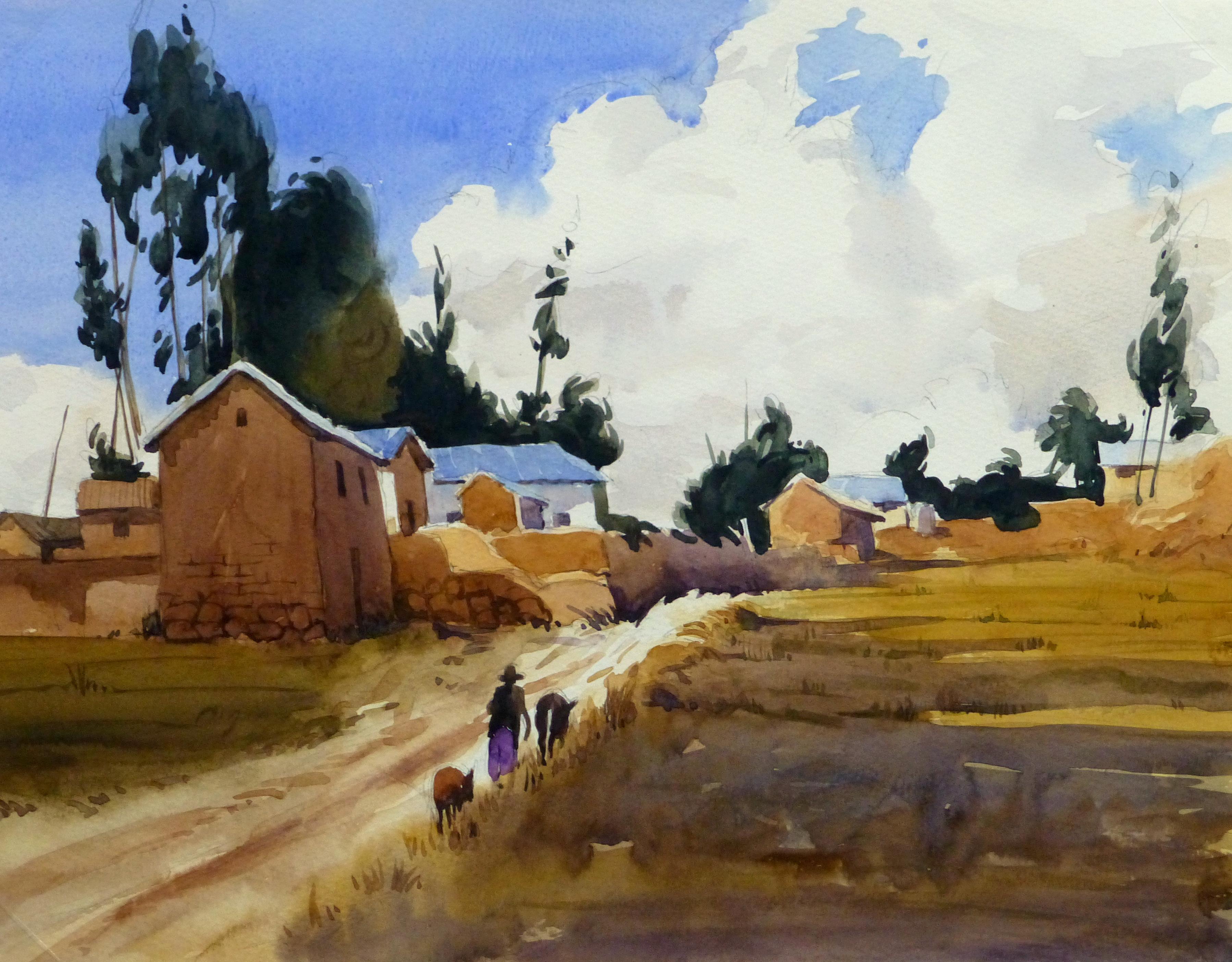 Watercolor Landscape - Rural Village, 2011-main-10532M