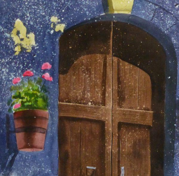 Watercolor Landscape - Rustic Entryway, 2011-detail 2-10534M