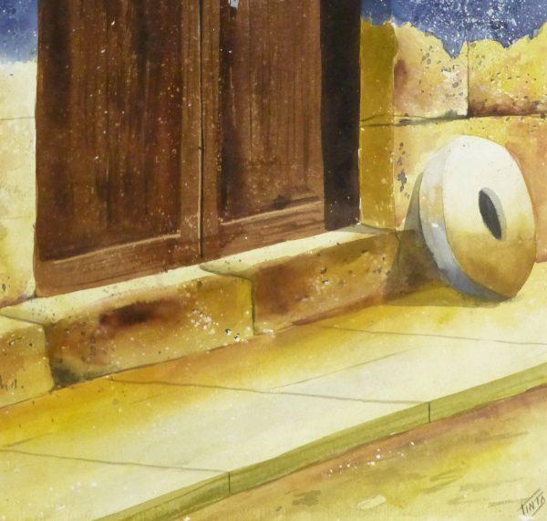 Watercolor Landscape - Rustic Entryway, 2011-detail-10534M