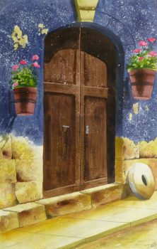 Watercolor Landscape - Rustic Entryway, 2011-main-10534M