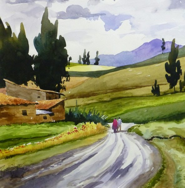 Watercolor Landscape - Afternoon Journey, 2011-detail 2-10535M