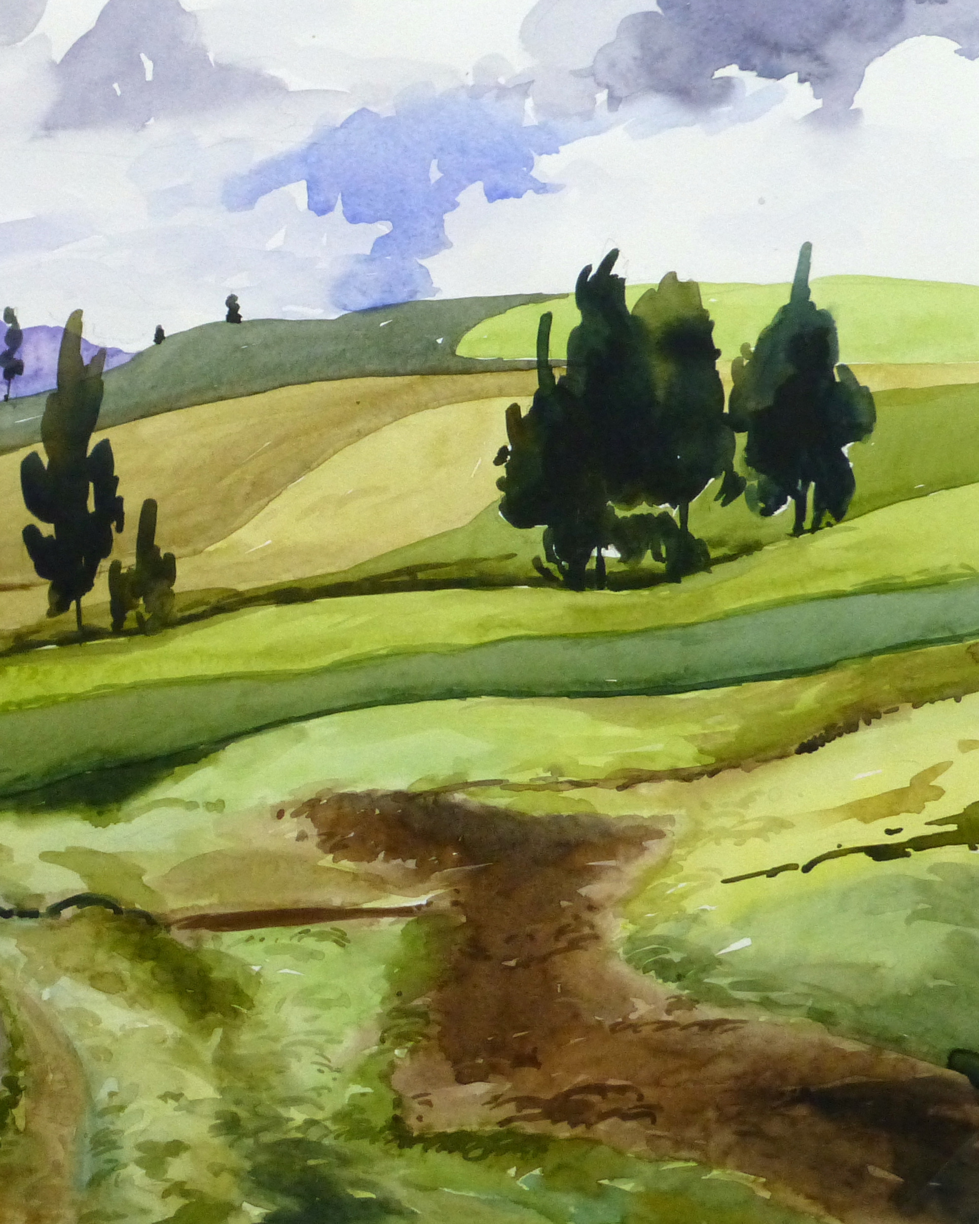 Watercolor Landscape - Afternoon Journey, 2011-detail-10535M