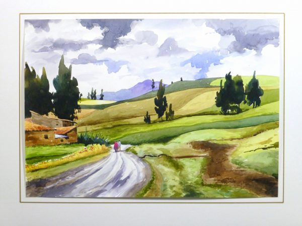 Watercolor Landscape - Afternoon Journey, 2011-matted-10535M