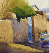 Watercolor Landscape - Village Road, 2011detail 210538M