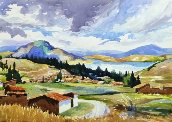 Watercolor Landscape - Lakeside Village, 2011-main-10539M