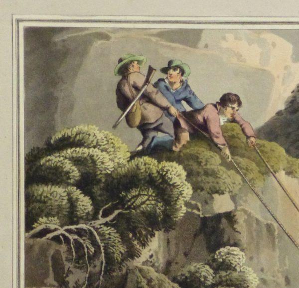 Aquatint Etching- Ascending the Rocks, 1813 -detail 2-10540M
