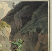 Aquatint Etching- Ascending the Rocks, 1813 -detail-10540M