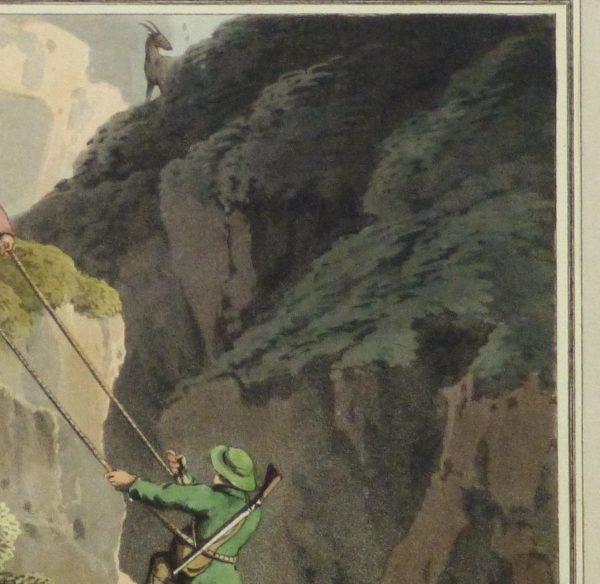 Aquatint Etching- Ascending the Rocks, 1813 -detail-10540M