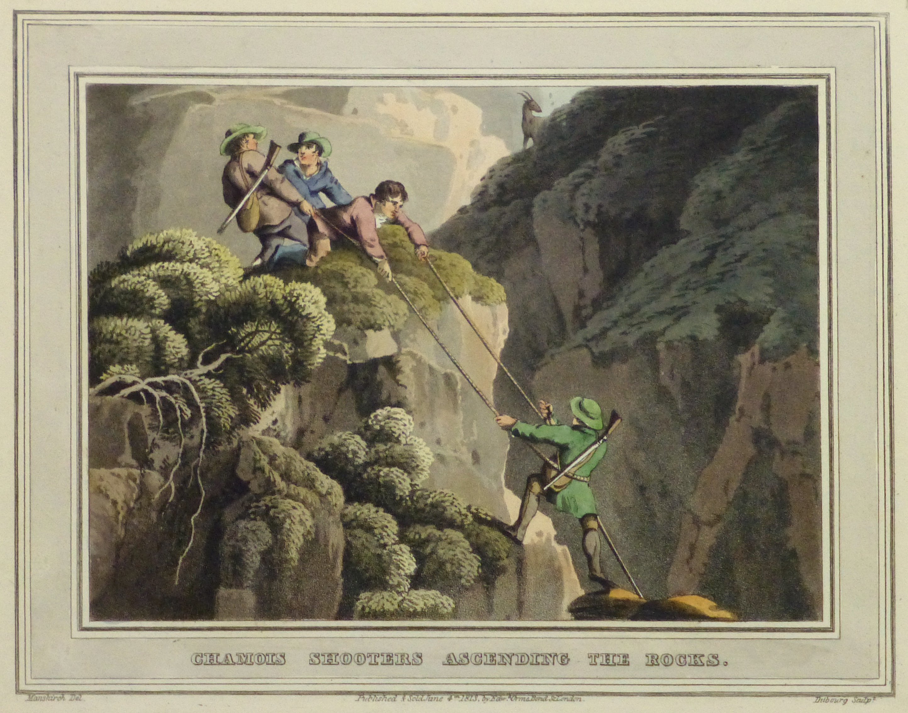 Aquatint Etching- Ascending the Rocks, 1813 -main-10540M