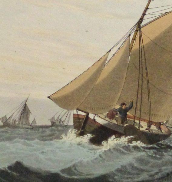 Aquatint Etching- Mackerel Fishing, 1813-detail 2-10541M