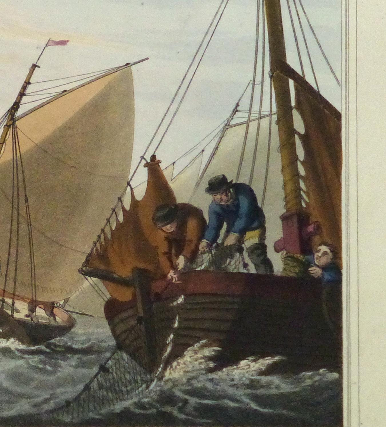 Aquatint Etching- Mackerel Fishing, 1813-detail10541M