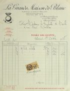 Duchess of Maillé Fine Linens Receipt, 1928-main-10556M