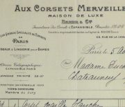 Duchess of Maillé Linens Receipt, 1932-detail 2-10558M