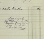 Duchess of Maillé Linens Receipt, 1932-detail-10558M