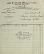 Duchess of Maillé Linens Receipt, 1932-main-10558M