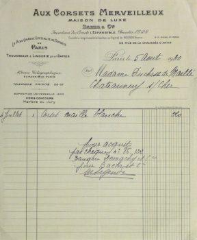 Duchess of Maillé Linens Receipt, 1932-main-10558M