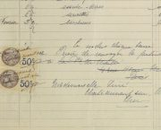 Duchess of Maillé Linens Receipt, 1932-detail-10559M