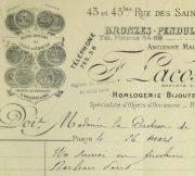 Duchess of Maillé Art Receipt, 1927-detail 2-10562M