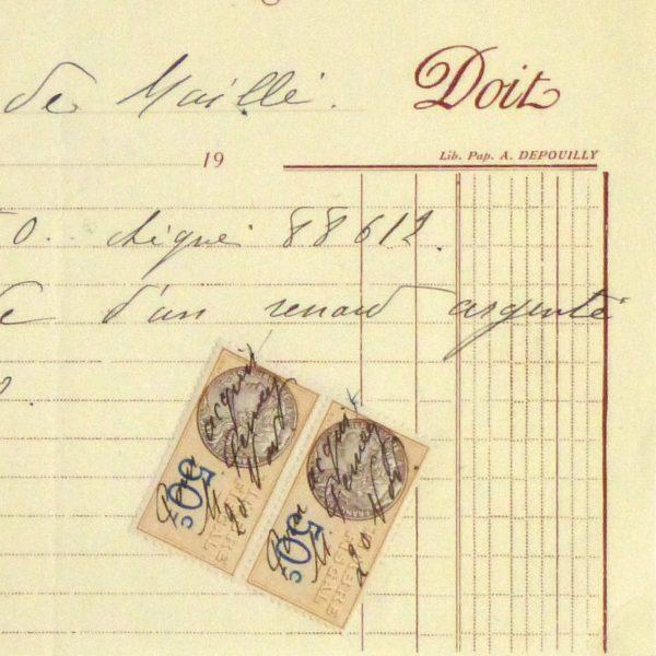 Duchess of Maillé Furs Receipt, Circa 1920-detail-10564M