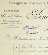 Duchess of Maillé Jewelry Receipt, 1922-detail10567M