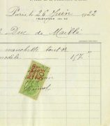 Duchess of Maillé Jewelry Receipt, 1922-detail 2-10567M