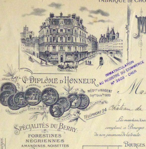 Duchess of Maillé Confections Receipt, 1926-detail 2-10568K