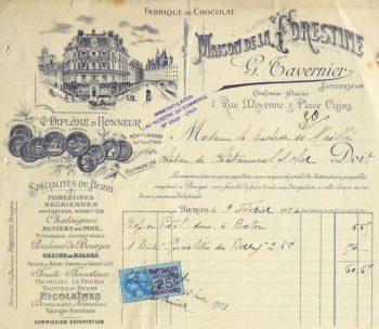 Duchess of Maillé Confections Receipt, 1926-main-10568K