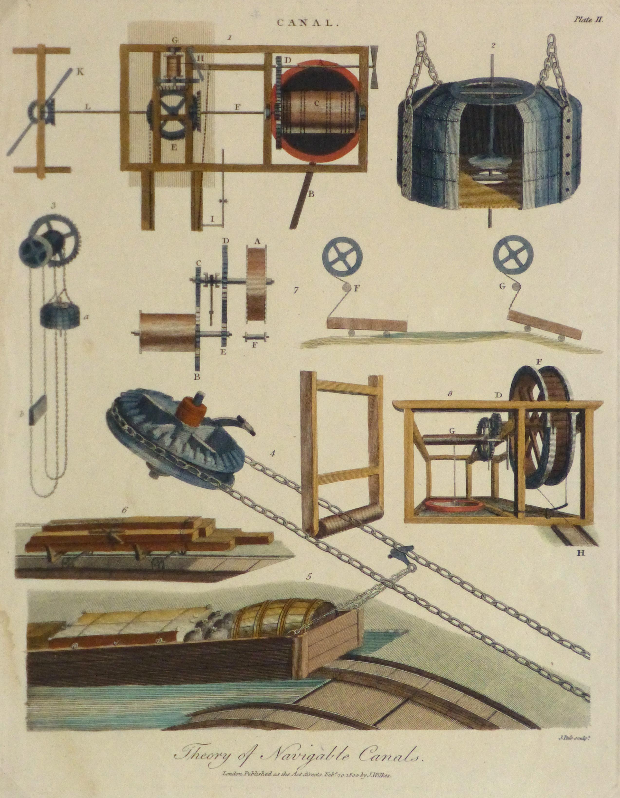 Canal Mechanics Engraving, 1800-main-10630M