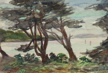 Watercolor Landscape - Shore Canopy, 1938-main-10631M