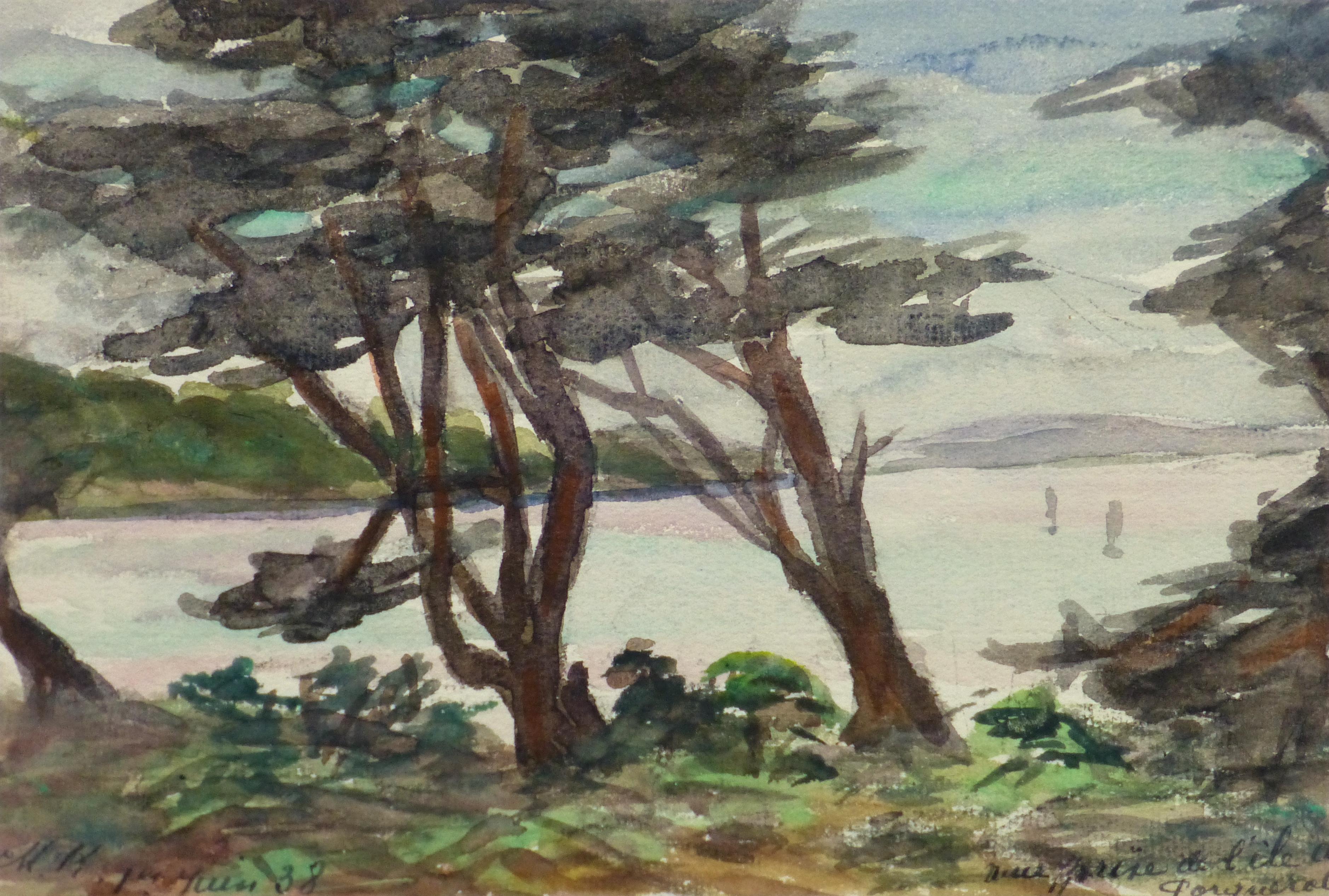 Watercolor Landscape - Shore Canopy, 1938-main-10631M