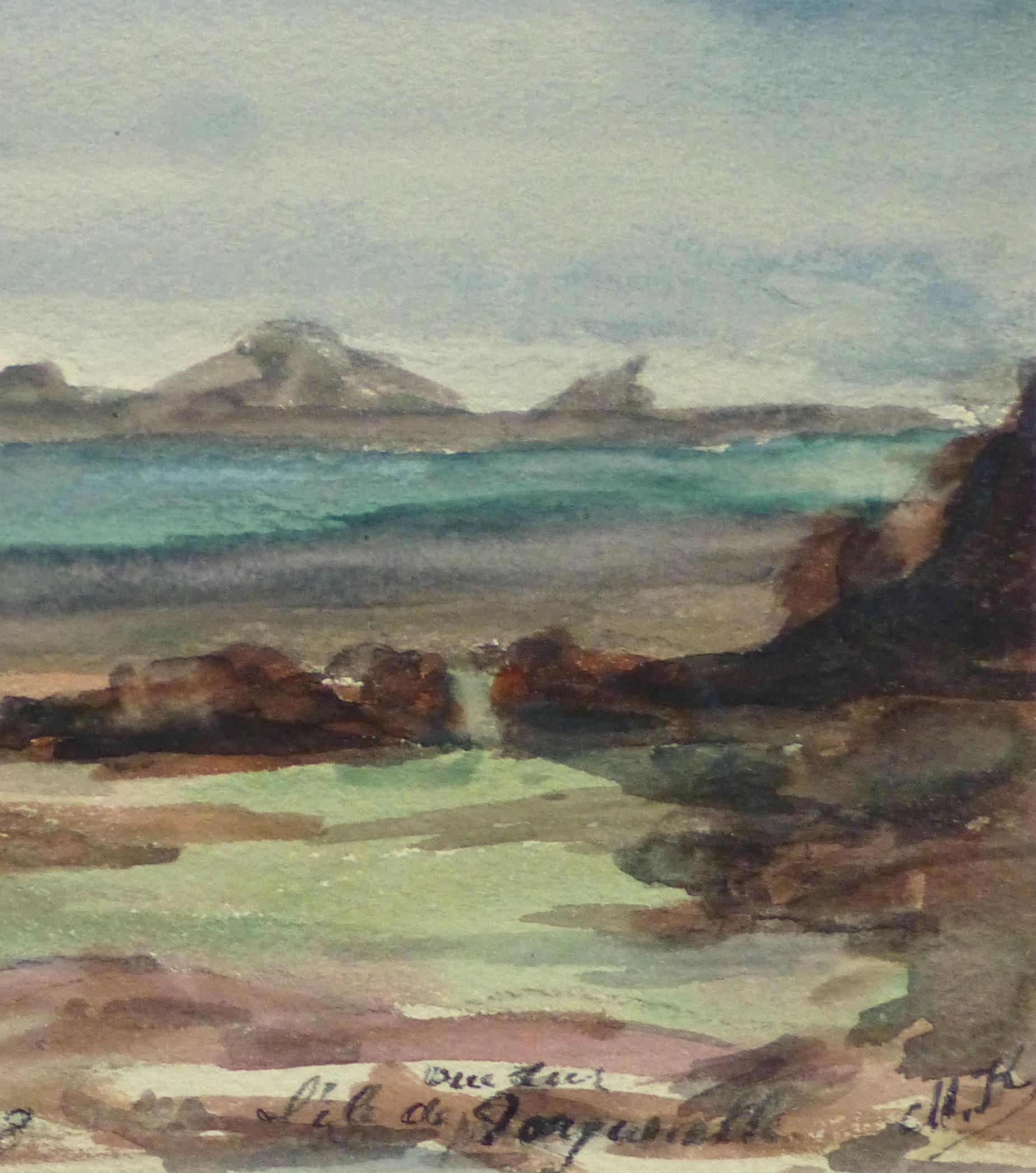 Watercolor Landscape - Tranquil Waters, 1938-detail-10634M