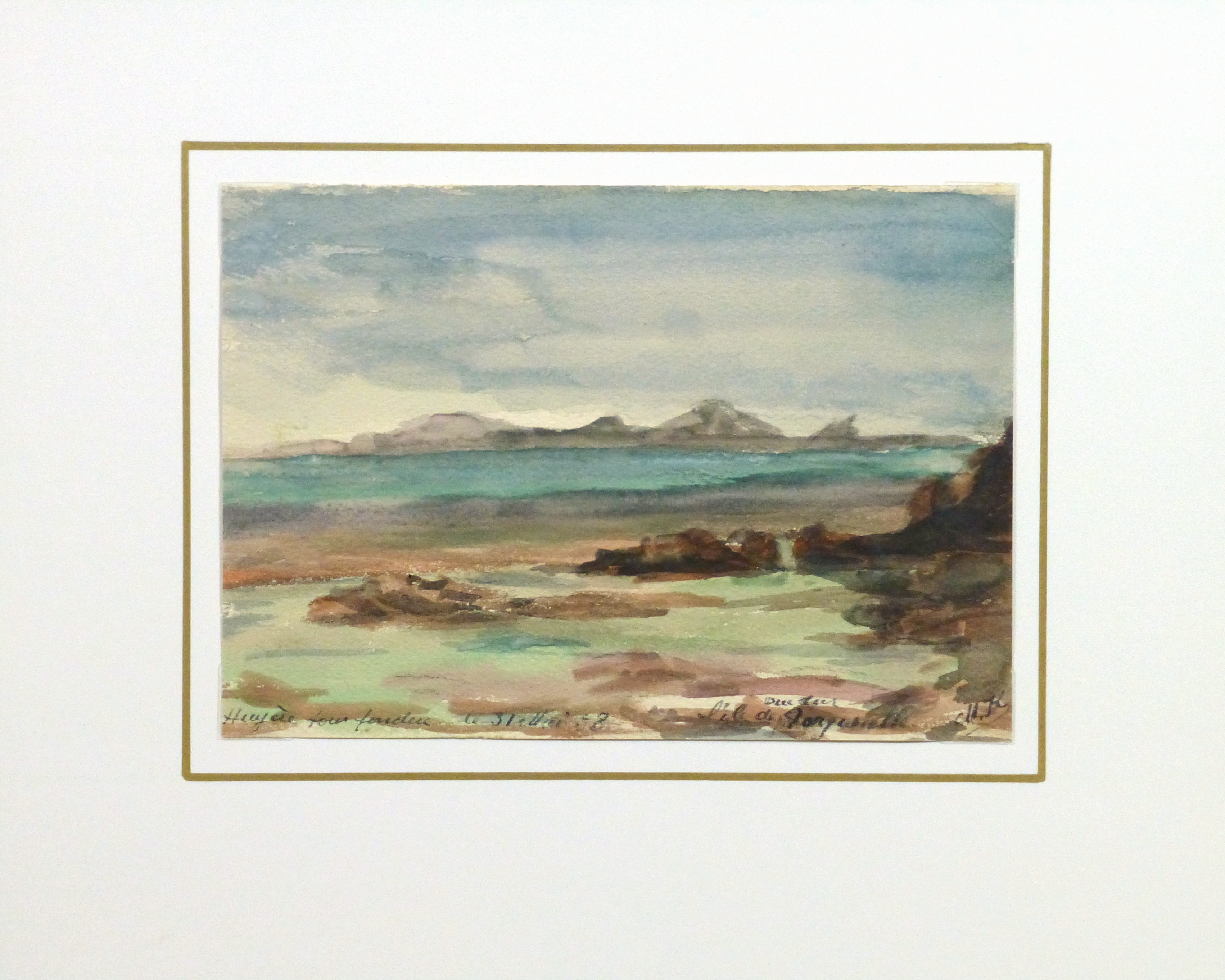 Watercolor Landscape - Tranquil Waters, 1938-matted-10634M