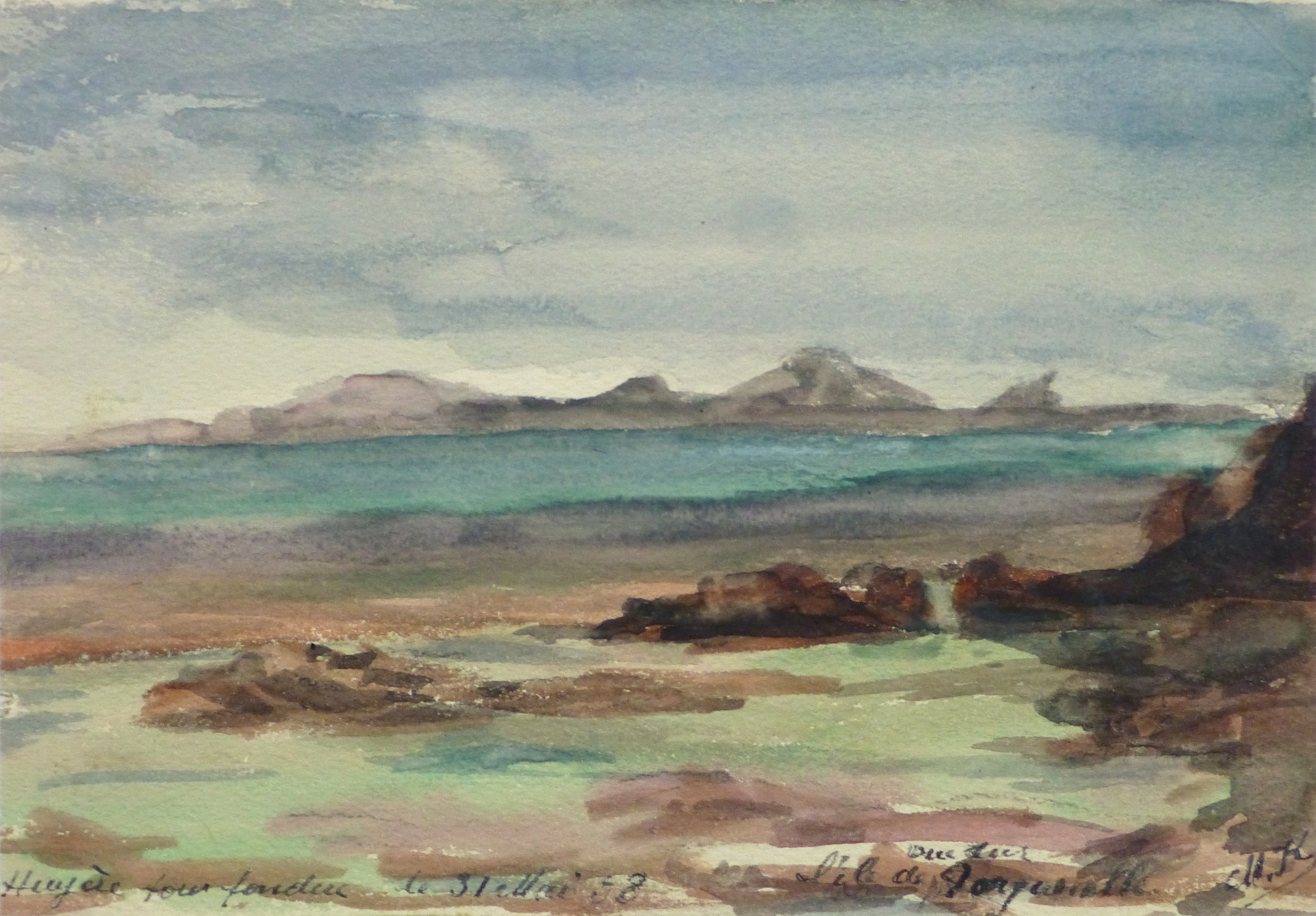 Watercolor Landscape - Tranquil Waters, 1938-main-10634M