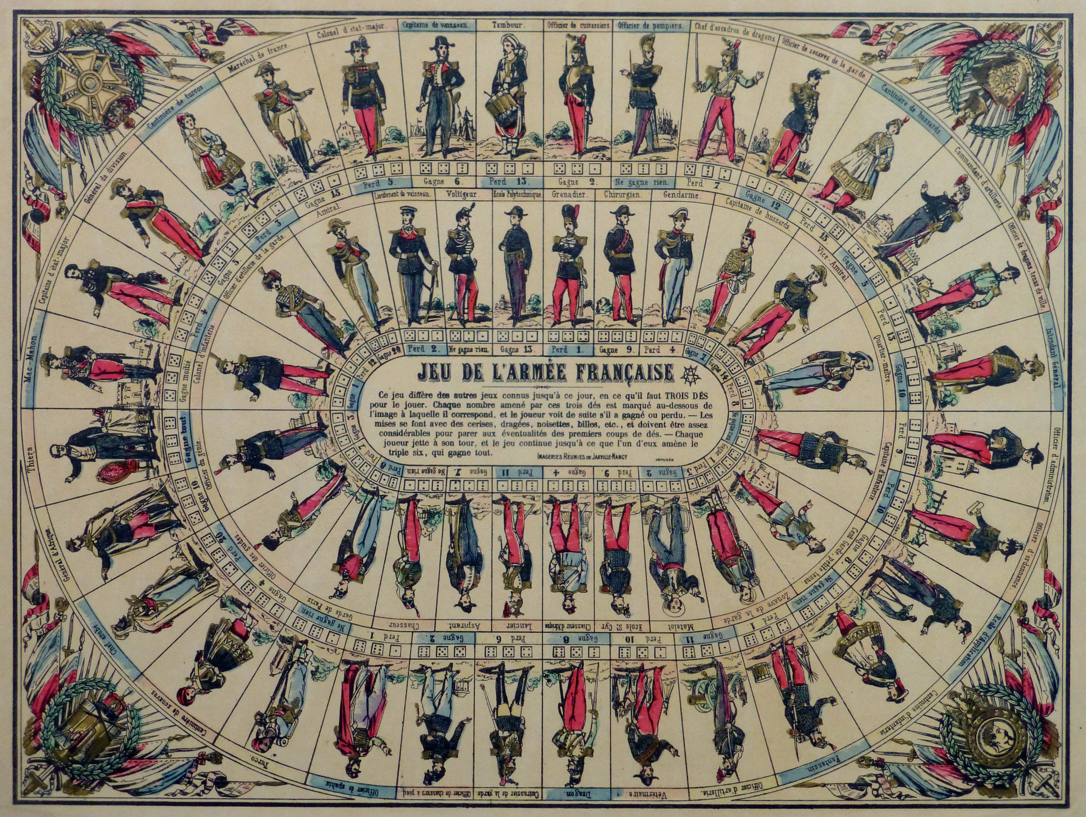 French Lithograph- Dice Game, Circa 1870-main-10648M