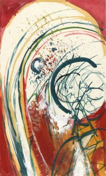 Abstract Watercolor - Rainbow, Circa 1970-main-5939G