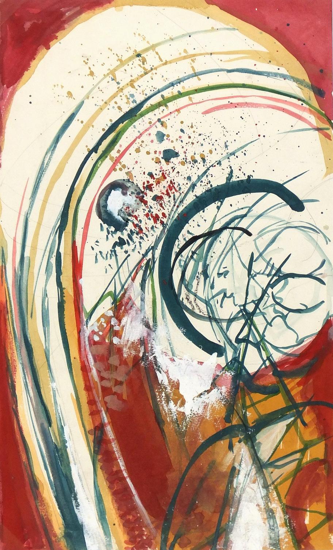Abstract Watercolor - Rainbow, Circa 1970-main-5939G